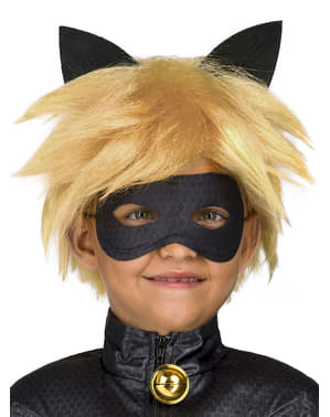 Perucă Cat Noir pentru băiat - Miraculous Ladybug