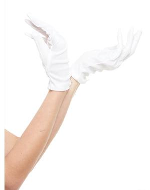 Hvide handsker til voksne, 25 cm