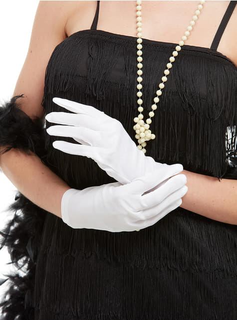 Białe rękawiczki dla dorosłych
