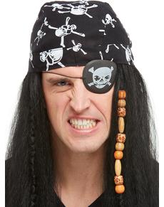 Accessori da pirata  bandana pirata 2fe40e444756