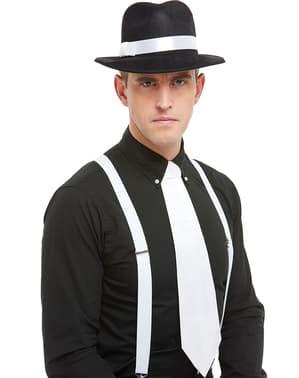 Gangsterská kravata bílá