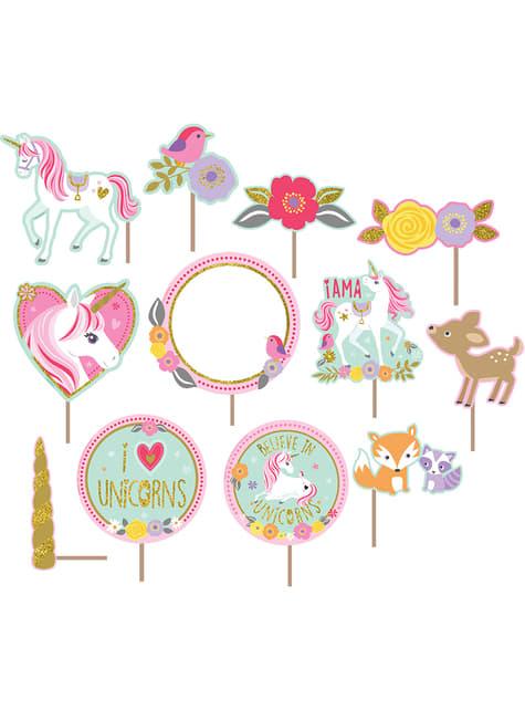 Conjunto de acessórios para fotografias - Pretty Unicorn