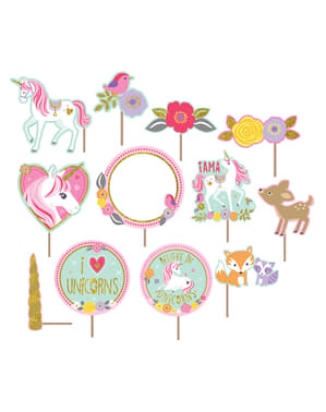 Unicorn Photo Booth Kit - Pretty Unicorn