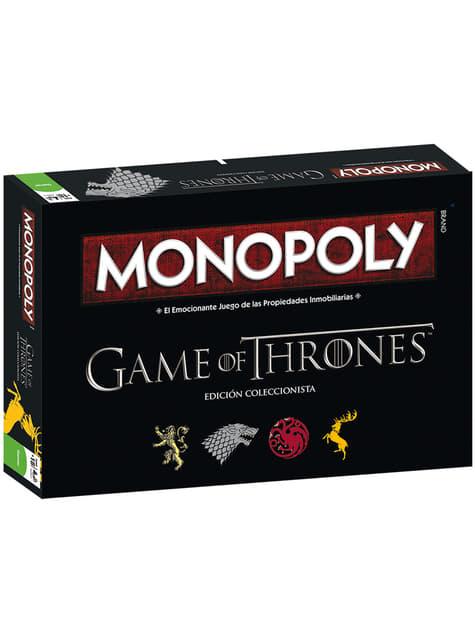 Monopoly de Game of Thrones Edição Deluxe em espanhol