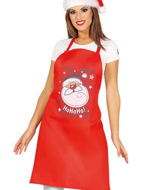 Rød forklæde med juletræ