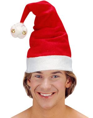 Bonnet de Père Noël avec clochettes