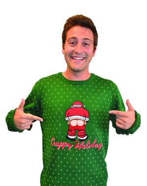 Aikuisten häijy joulupukki villapaita