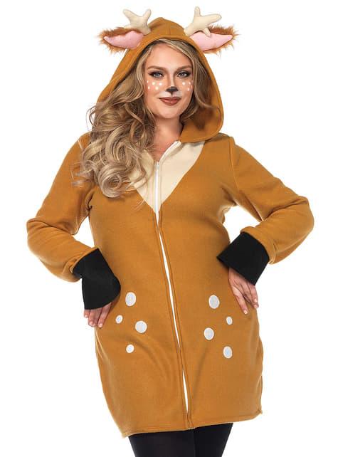 Disfraz de reno navideño para mujer talla grande - mujer