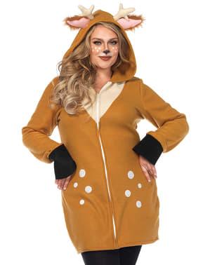 Disfraz de reno navideño para mujer talla grande
