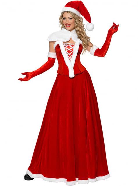 Weihnachtsfrau Kostüm hochwertig