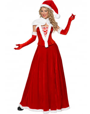 Kerstvrouw luxury Kostuum