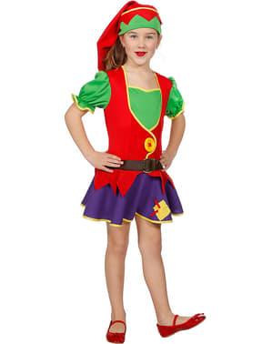 Weihnachtselfin Kostüm für Mädchen