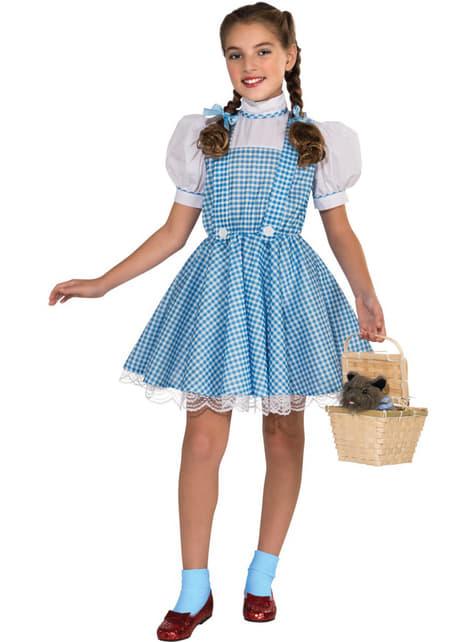 Deluxe Dorothy kostuum voor meisjes