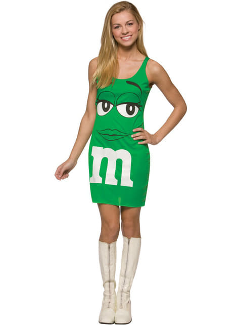 Disfraz de M&Ms Verde vestido