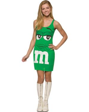 M&M's grün, als Kleid Kostüm