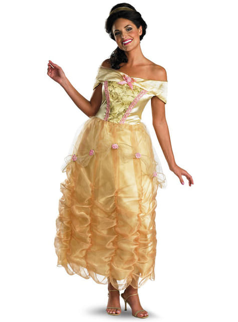 Belle deluxe kostume til kvinder