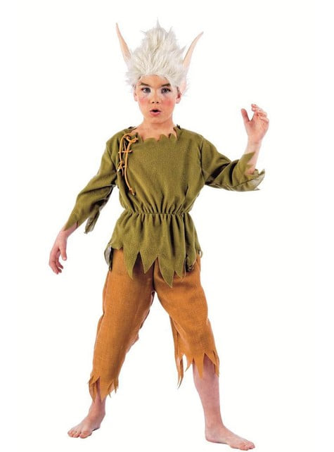 Fato de elfo Lilvast para menino