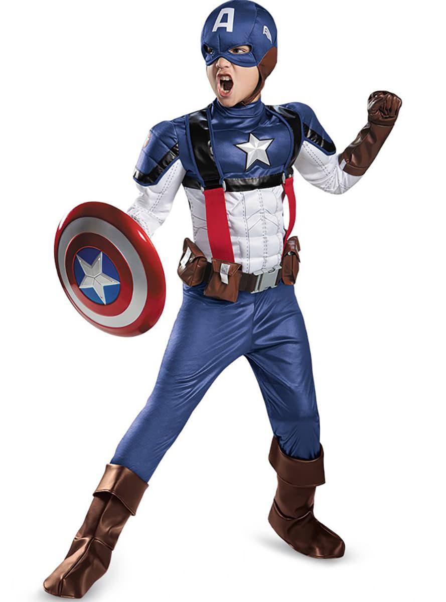 Kostium kapitan ameryka zimowy o nierz retro prestige dla ch opca