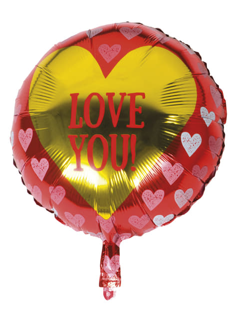 Ballon en aluminium cœurs – Love You