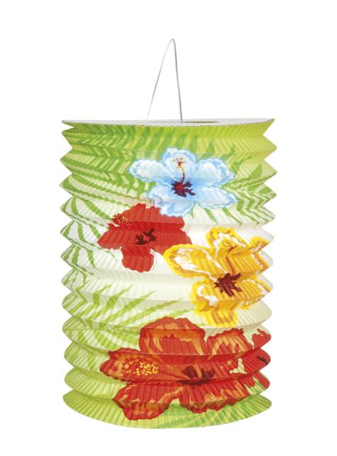 2 faroles flamenco Hawai (16cm) - Hibiscus - para tus fiestas