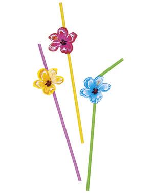 6 Hawaiian straws - Hibiscus