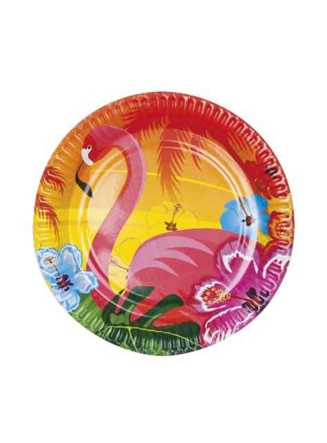 Flamingo Hawaii Teller Set 6-teilig - Hibiscus
