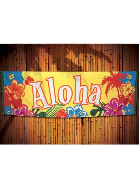 Bandera hawaiana aloha - Hibiscus - para tus fiestas
