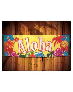 Banderole hawaïen aloha - Hibiscus