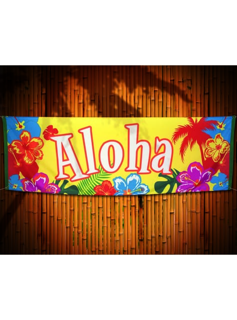 Bandera hawaiana aloha - Hibiscus - barato
