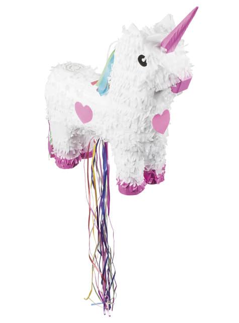 Piñata de unicornio blanco