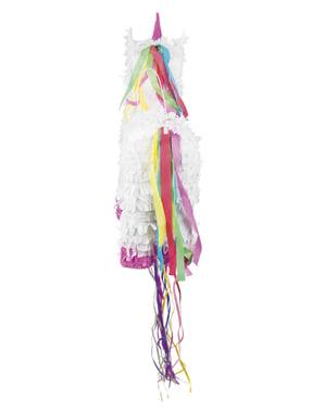 Beyaz tek boynuzlu at Piñata