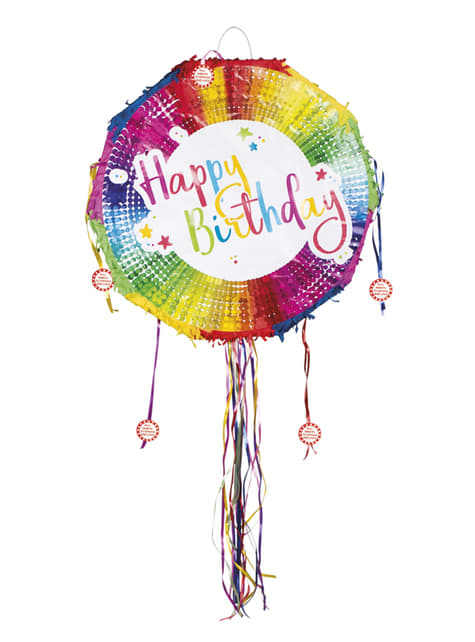 Piñata multicolor Happy Birthday