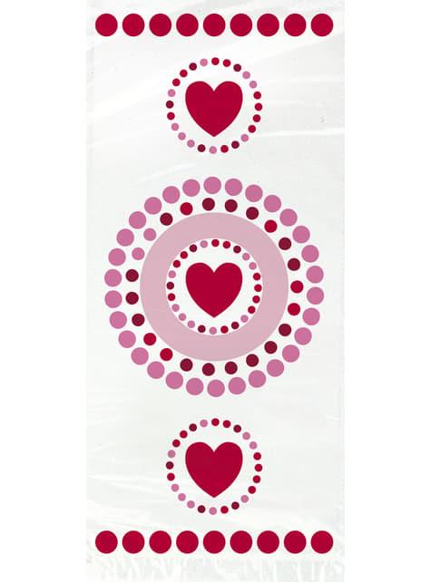 20 sachets cellophane cœurs et pois - Radiant Hearts