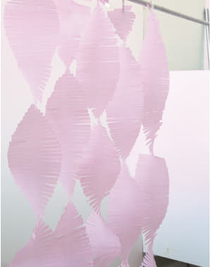 Tenda difrange di carta crepa rosa chiaro