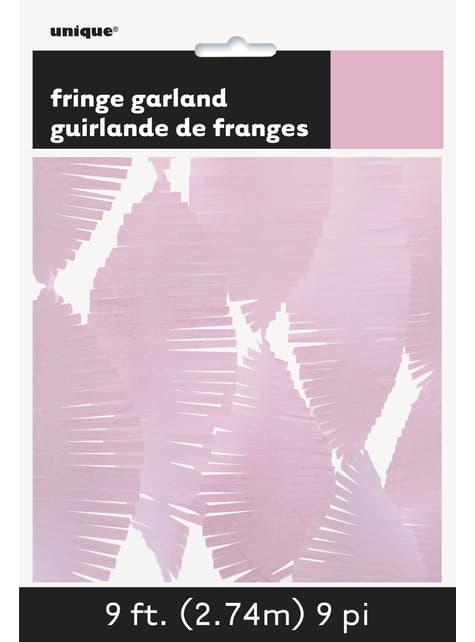 Rideau à franges en papier crépon rose clair