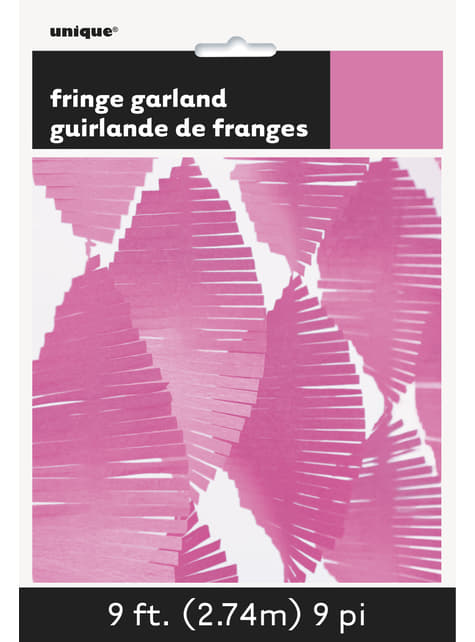 Cortina de flecos de papel crepe rosa - para tus fiestas