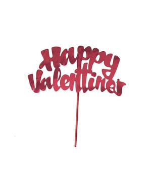 Stick decoração de pastel happy valentine's
