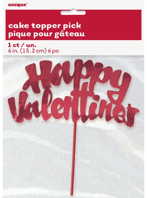 Stick decoración de pastel happy valentine's - para tus fiestas