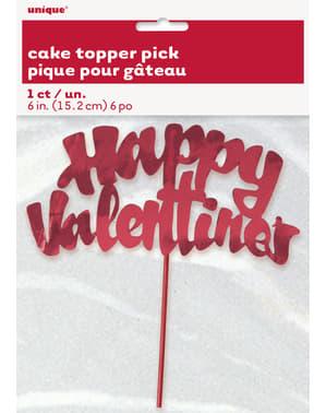 Fijne Valentijn cake decoratie stok