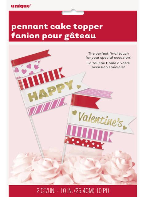 2 pics à gâteaux - Gold Happy Valentines