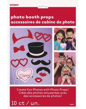 Acessórios de São Valentim para photocall