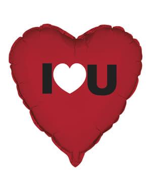"Foliosydänilmapallo ""I Love You"""