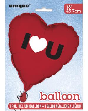Herzförmiger metallic Luftballon