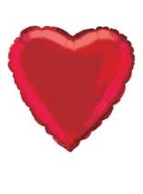 Červený foliový balonek ve tvaru srdce
