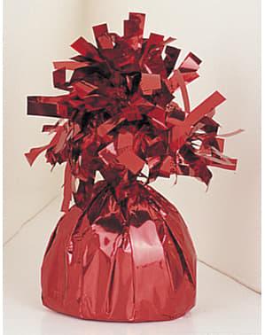 Peso para globos de color rojo