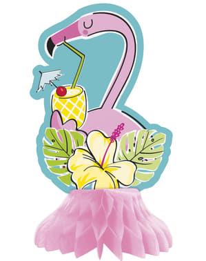 3 yhteensopivaa pöydän koristetta trooppisella flamingolla ja ananaksella kennopaperista – Tropi-cool
