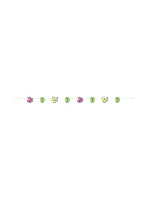 Tropical flowers and leaves garland - Tropi-cool