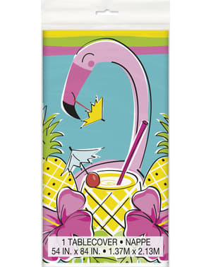 Nappe flamant rose et ananas tropical - Tropi-cool