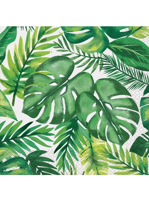16 Serviettes en papier été tropical - Palm Tropical Luau