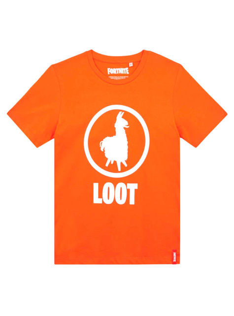 Oransje Fortnite Loot T-Skjorte til barn